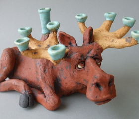 Moose Menorah
