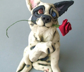 Collie with Rose