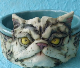 Cat Persian Dish