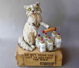Cat Delivering Milk