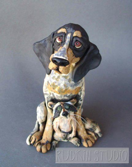 Coonhound Sculpture