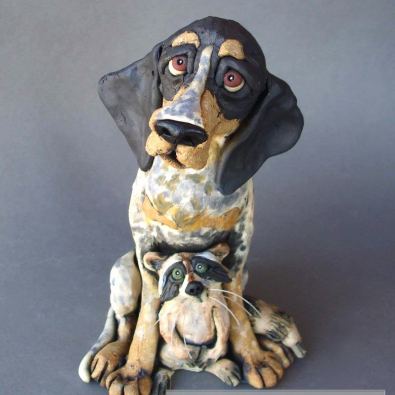 Coonhound Sculpture