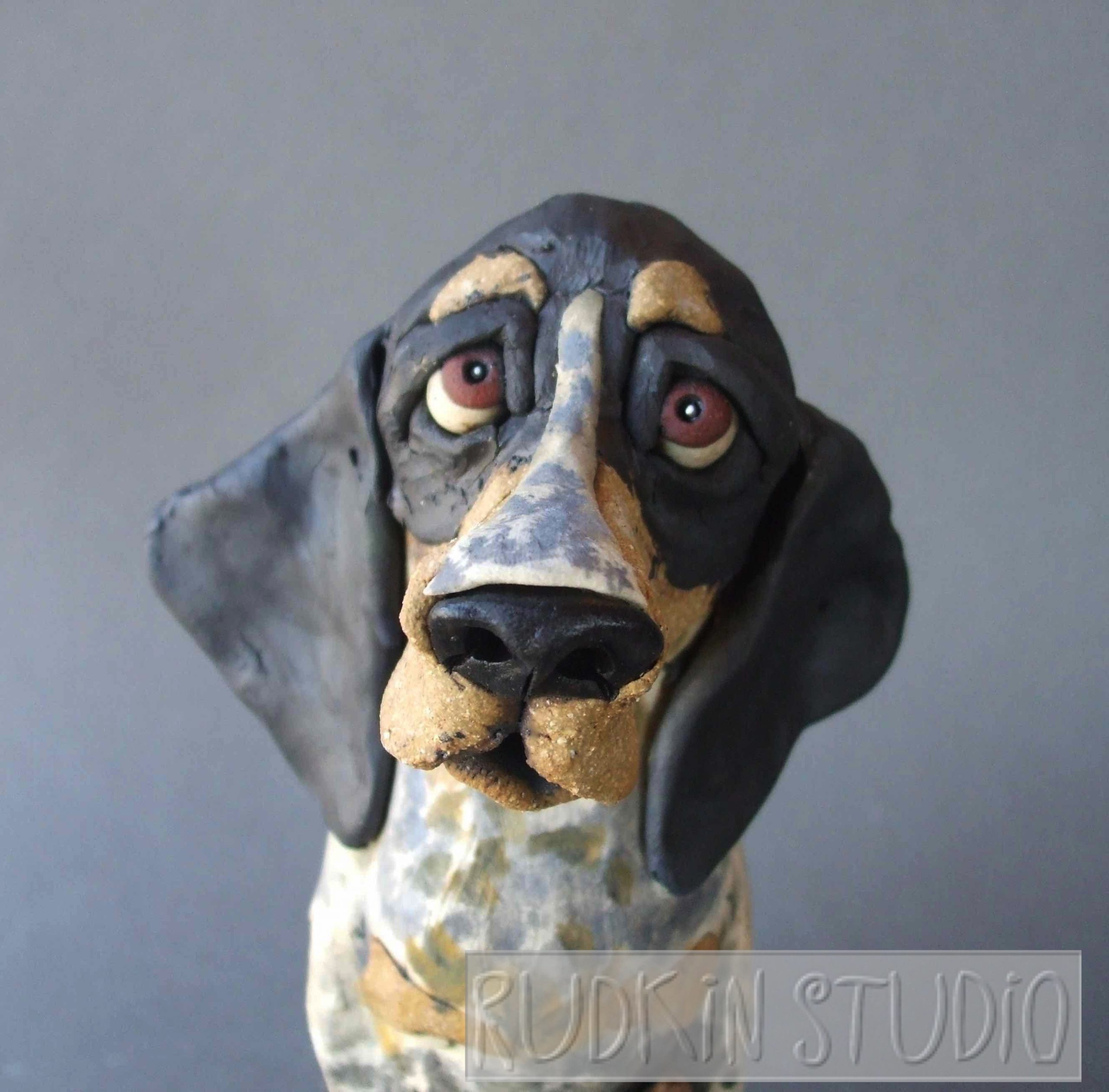 Coonhound Sculpture Close