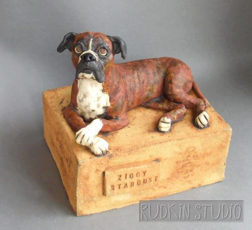 Boxer Dog Pet Urn
