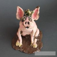 Pig and Frog Sculpture