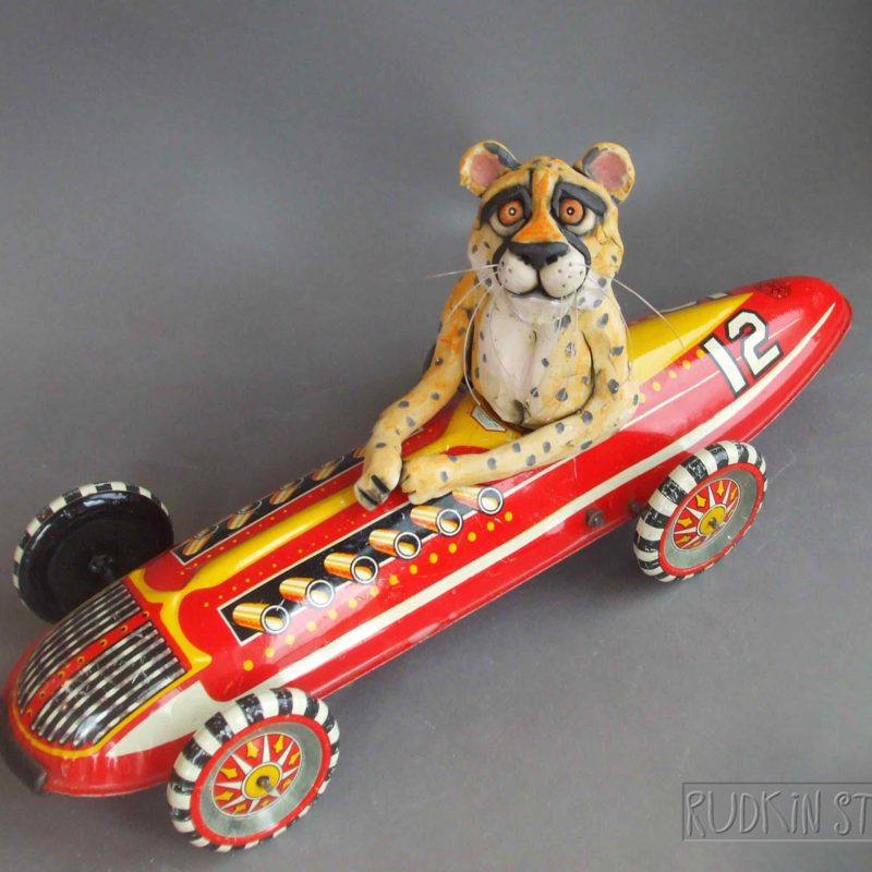 Cheetah in Race Car