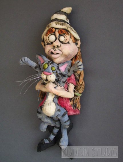 Girl with Cat d