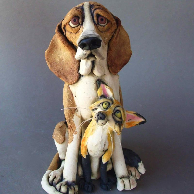 Foxhound Sculpture