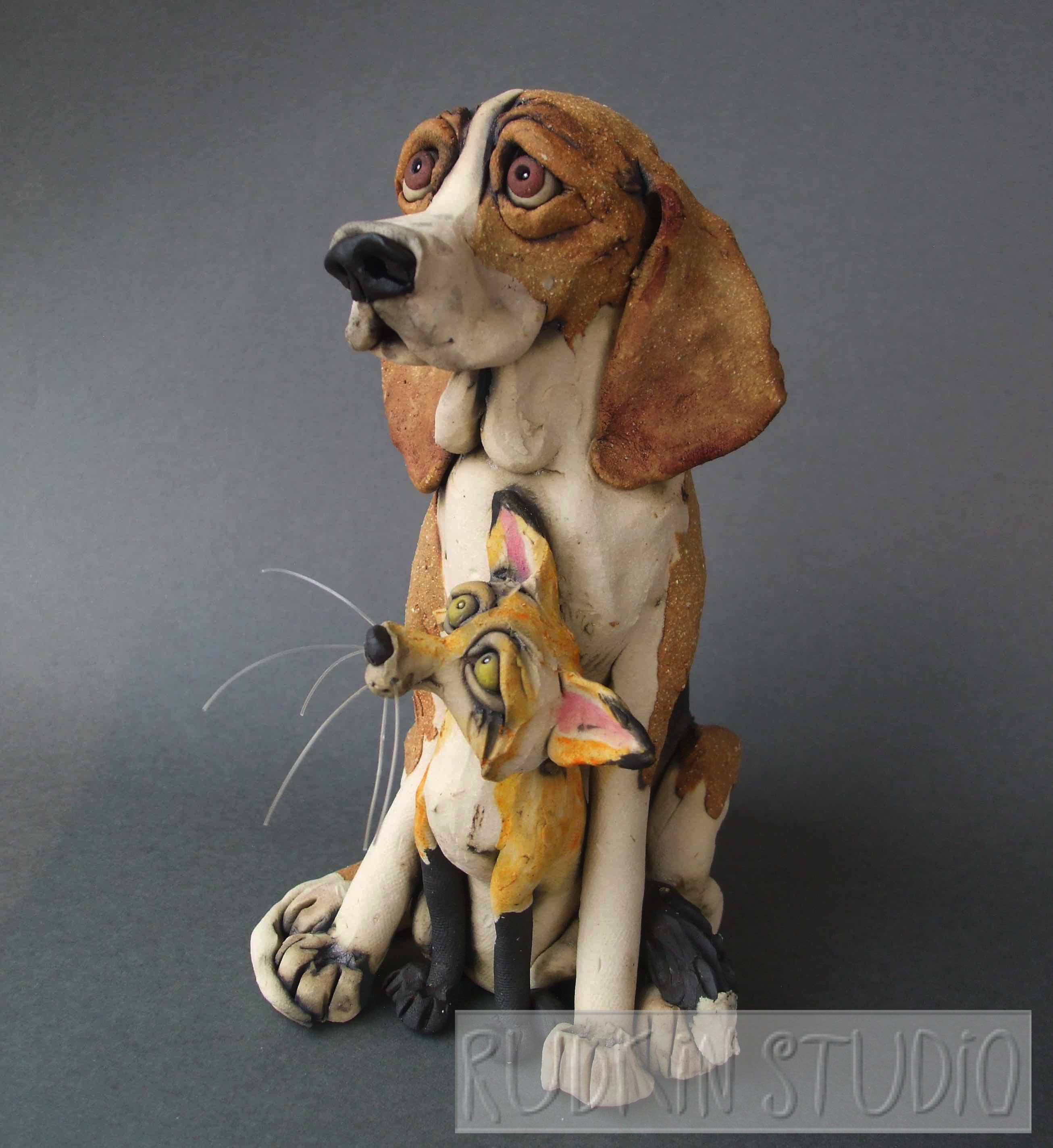 Foxhound Sculpture Side