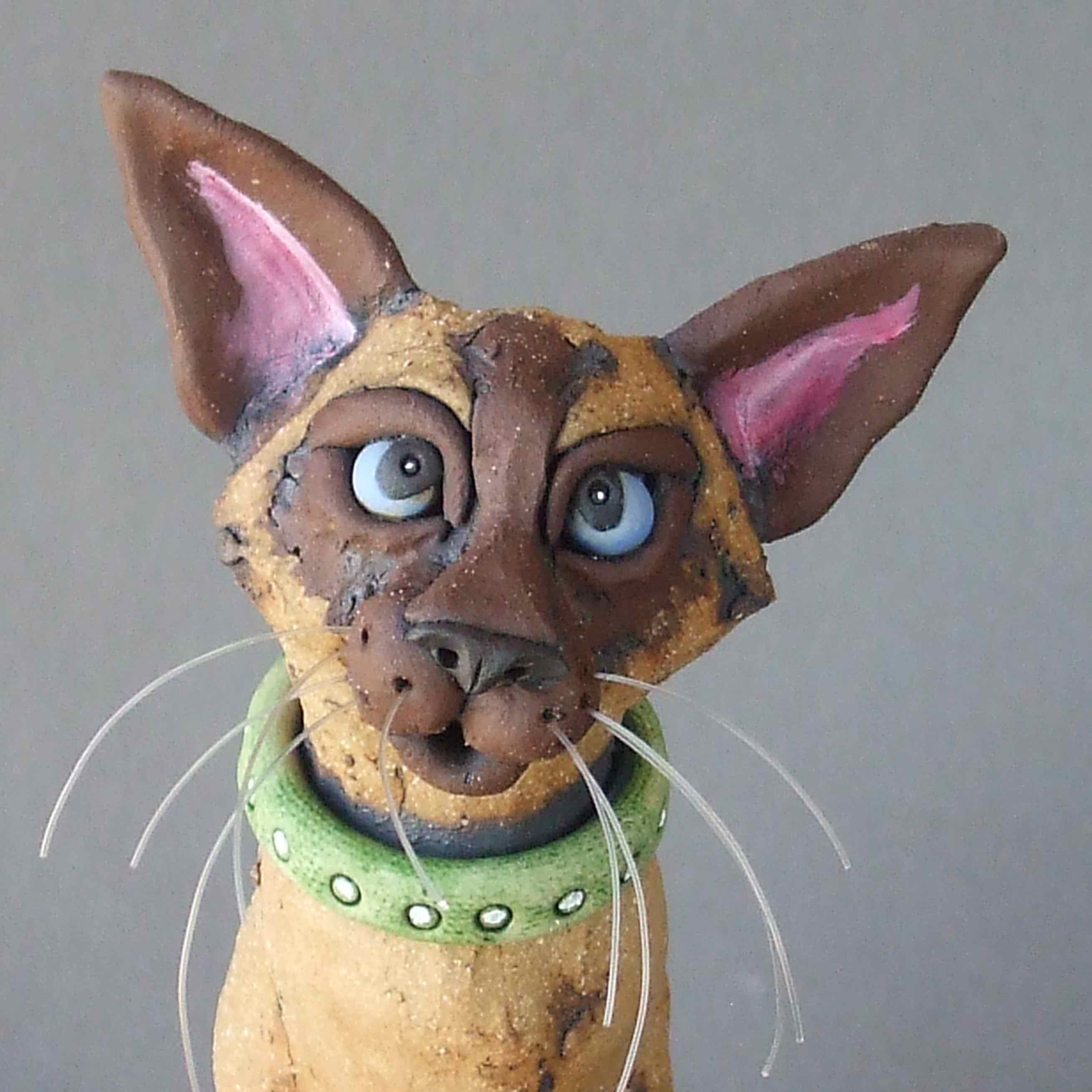 siamese cat mouser ceramic sculpture mine rudkin studio