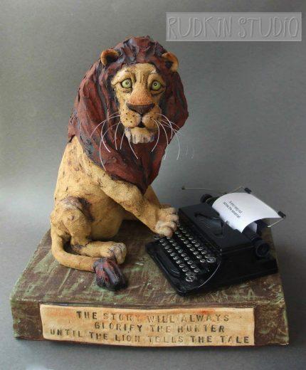 Lion Sculpture Typing