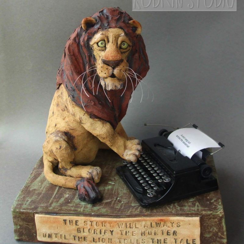 Lion Sculpture Typing