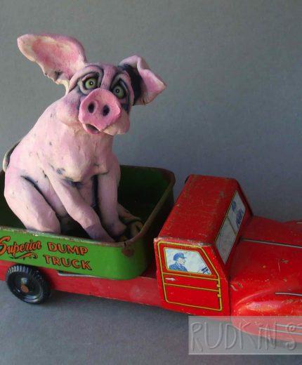 Pink Pig Dump Truck