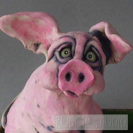 Pink Pig Dump Truck Close