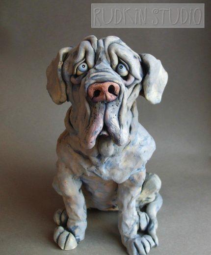 Neapolitan Mastiff Dog Sculpture
