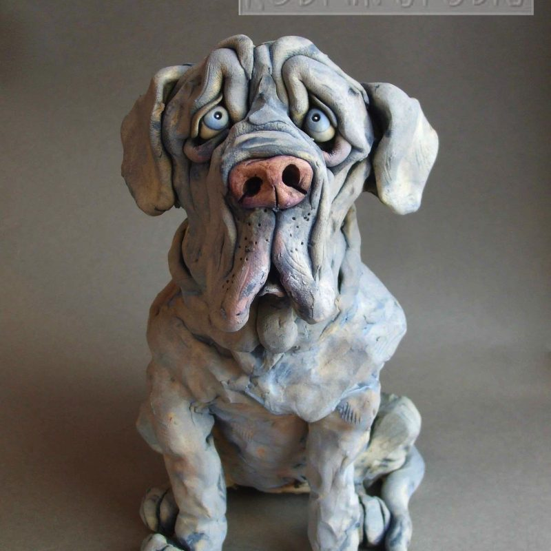 Neapolitan Mastiff Dog Sculpture